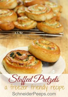 One of my children's favorite snacks is stuffed pretzels. I love making them because I can make a bunch at one time and put them in the freezer for later. You need to make these, your family with thank you.