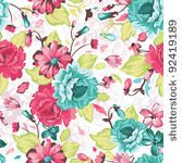 Abstract Elegance Seamless pattern with floral background by Aleksey Vl B, via ShutterStock