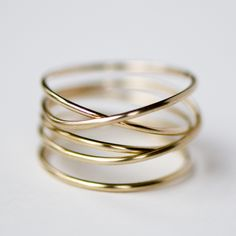 Gold Wrap Ring by Britta Ambauen | Ethical Ocean