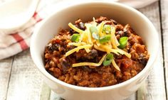 This yummy beef mince chilli is a fantastic family meal. Just pop all the ingredients into the slow cooker and your work is done! Leftovers taste even better the next day too.