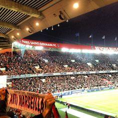 Much hatred for Marseille.  Parc des Princes stadium. Watching Futbol. #ourchoix