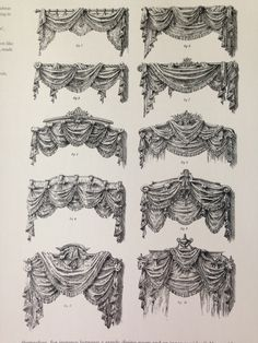 TENDE - ACCESSORI Victorian Curtains, Victorian Windows, Victorian Bedroom, Victorian Interiors, Victorian Decor, Victorian Homes, Drapery Styles, Curtain Styles, Curtain Designs