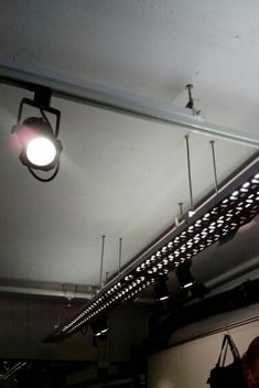 light trough using cable tray at JCCAC, HK Ceiling Light Design, Lighting Design, Ceiling Lights, Karaoke, Hvac Design, Small Office Design, Warehouse Living, Cable Tray, Modern Restaurant