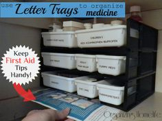 How to Organize Medicine with office supplies