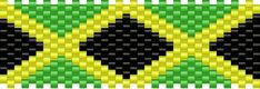 Jamaican Flag Pony Bead Patterns | Misc Kandi Patterns for Kandi Cuffs