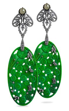 Go Green with Earrings by @Bochic