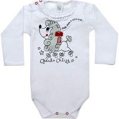 Body Bebê Menina Poodle Branco - Patimini :: 764 Kids | Roupa bebê e infantil