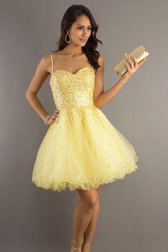 A-line Spaghetti Straps Sleeveless Short/Mini Tulle Party Dress