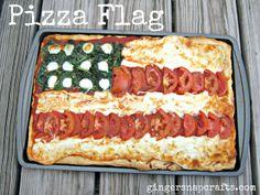 Pizza Flag | www.gingersnapcrafts.com