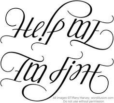i'm fine help me ambigram - Google Search