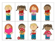 Valentine's Day Inferences-Freebie:  This game is designed to help your students practice making basic inferences and creating descriptions. This game includes 4 character mats, 32 inference cards, and a worksheet to help your students construct their own descriptions. Students listen to clues and infer which person/animal should get each Valentine.
