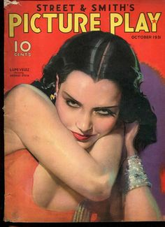 PICTURE PLAY October 1931 Movie Magazine LUPE VELEZ Painted Cover MODEST STEIN