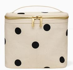 Kate Spade New York Insulated Soft Cooler Lunch Tote with Double Zipper Close and Carrying Handle, Big Deco Dot: Toys & Games Lunch Boxes For Women, Packing School Lunches, Insulated Lunch Tote, Soft Cooler, Black Handbags, Gifts For Girls, Kate Spade, Deco, York
