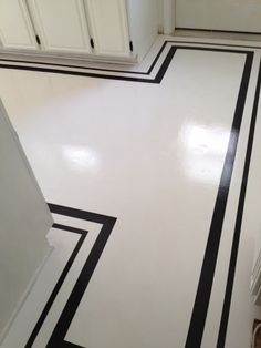 Framed painted floor - tricky on our curves!