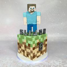 #minecraft #minecraftcake #birthdaycake #cakesforboys Minecraft Cake, Cakes For Boys, Celebration Cakes, Cube, Birthday Cake, Toys, Desserts, Shower Cakes, Activity Toys