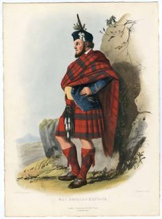 Clans of the Scottish Highlands 1847 Plates 1-54, Plate 022 :: Costume Institute Fashion Plates