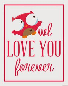 owl love you forever printable