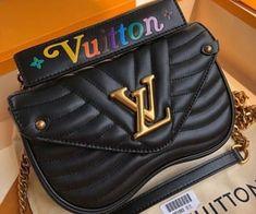 Louis Vuitton lv new wave chain flap bag original leather version Luxury Bags, Luxury Handbags, Luxury Purses, Handbags Online, Purses And Handbags, Louis Vuitton Handbags Crossbody, Bags 2018, Foto Pose, Cute Purses