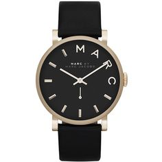 Marc by Marc Jacobs Baker ❤ liked on Polyvore featuring jewelry, watches, accessories, black, bracelets, leather strap watches, marc by marc jacobs, stainless steel wrist watch, stainless steel jewellery and marc by marc jacobs watches