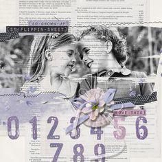 """""""So Flippin Sweet"""" digital scrapbooking layout by Brandy Murry"""