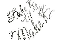 fake it 'til you make it: gel point pen calligraphy how-to by the postman's knock