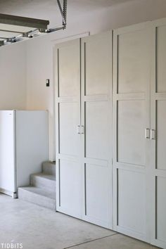 diy storage cabinet Take back control of your garage! Free building plans for garage storage cabinets to organize all your tools, household supplies, automotive supplies, outdoor toys, garden tools . Easy Garage Storage, Garage Storage Solutions, Garage Organization, Locker Storage, Storage Ideas, Organization Ideas, Diy Garage Storage Cabinets, Diy Storage Wall, Diy Locker