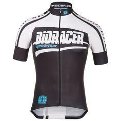 Mens Team  Bodyfit Jersey (Black/White/Blue)