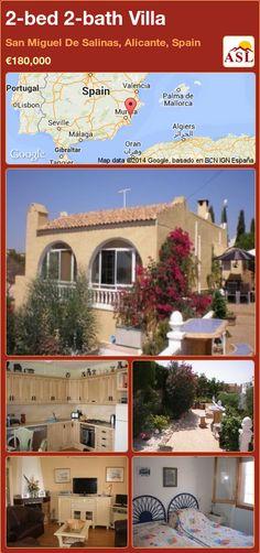 2-bed 2-bath Villa in San Miguel De Salinas, Alicante, Spain ►€180,000 #PropertyForSaleInSpain