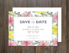 Save the Date Invitation by aticnomar on Creative Market