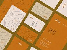 *New* Elha Jewellery - Monica Andino⎪Illustration & Graphic Design Stationery Design, Brochure Design, Branding Design, Costa Rica, Organic Forms, Business Card Design Inspiration, Color Inspiration, Branding Your Business, Business Cards