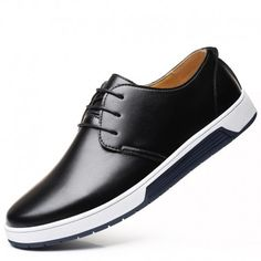 24077fd339f80 Hot Sale Large Size Leather Shoes for Men s Fashion Big Fashion Daily Flats  High Quality Male Breathable Light Casual Shoes