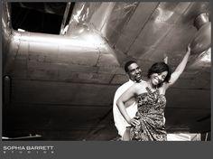 Engagement session+ Planes= Gorgeous!