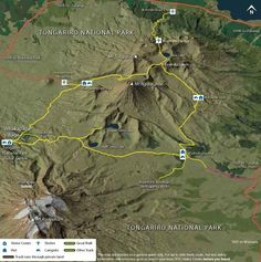 Tongariro Northern Circuit map.