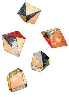 geometric asteroids by depeapa