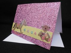 Baby girl greeting card baby by PrettyLittleCrafties on Etsy