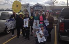 In Ottawa, Canada, Lowe's was swarmed by a large contingent of bee-lovers asking the store to give bees treats, not tricks and stop selling bee-killing pesticides.