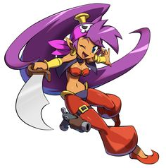 Shantae (Shantae) - 3rd party newcomer from WayForward, gives indie representation. Takes inspiration from Shantae and the Half-Genie Hero, Shantae and the Pirate'S Curse; Light class character.