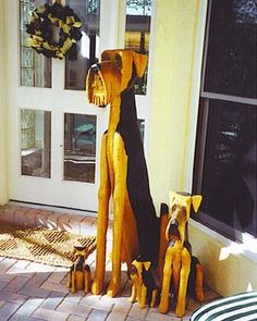Norton's Airedale woodcarving