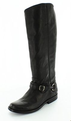 FRYE Women's Phillip Ring Tall Harness Boot, Black, 7.5 M US * Visit the image link more details.