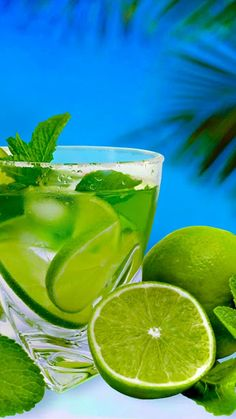 """themanliness: """" Mojito by Oxana Denezhkina Summertime Drinks, Summer Drinks, Cocktail Drinks, Fun Drinks, Cocktails, Snacks For Work, Healthy Work Snacks, A Food, Food And Drink"""