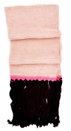 Hint of Neon Knit Scarf