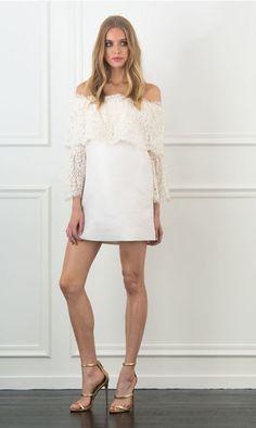 Rachel Zoe Sailor Off-The-Shoulder Mini Dress