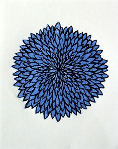 Chrysantheme Holzschnitt blau Kunstdruck Blume Holzdruck | Etsy Riso Print, Illustration Blume, Silk Screen Printing, Poster Prints, Art Prints, Print Artist, Chrysanthemum, Woodblock Print, Wood Print