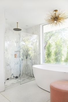Get inspired by Glam Bathroom Design photo by Mandy Moore. Wayfair lets you find the designer products in the photo and get ideas from thousands of other Glam Bathroom Design photos. White Bathroom, Modern Bathroom, Small Bathroom, Bathroom Ideas, Bathroom Showers, Master Bathrooms, Minimalist Bathroom, Bathroom Inspo, Shower Ideas