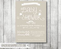 Gender Neutral Baby Shower Invitation  by gingercakegraphics, $13.50