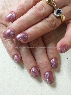 No 22 gel with freehand nail art