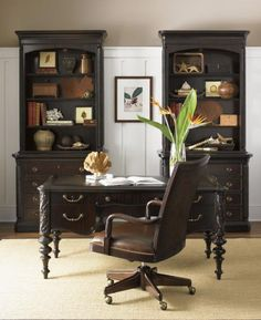 British Colonial style dark mahogany.