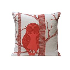 The  Red Owl Cushion