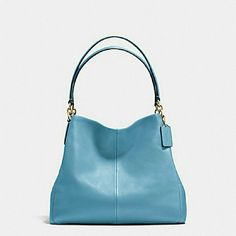 "Coach Phoebe Pebble leather shoulder bag Measurements: 13 x 13 x 3.5"". Color is bluejay. All leather. New with tags. Beautiful color! No trades please. Coach Bags Shoulder Bags"