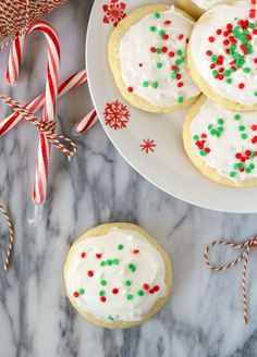 These soft sugar cookies are just like the Lofthouse cookies you find in your grocery store except with a fun peppermint twist for the holiday season.